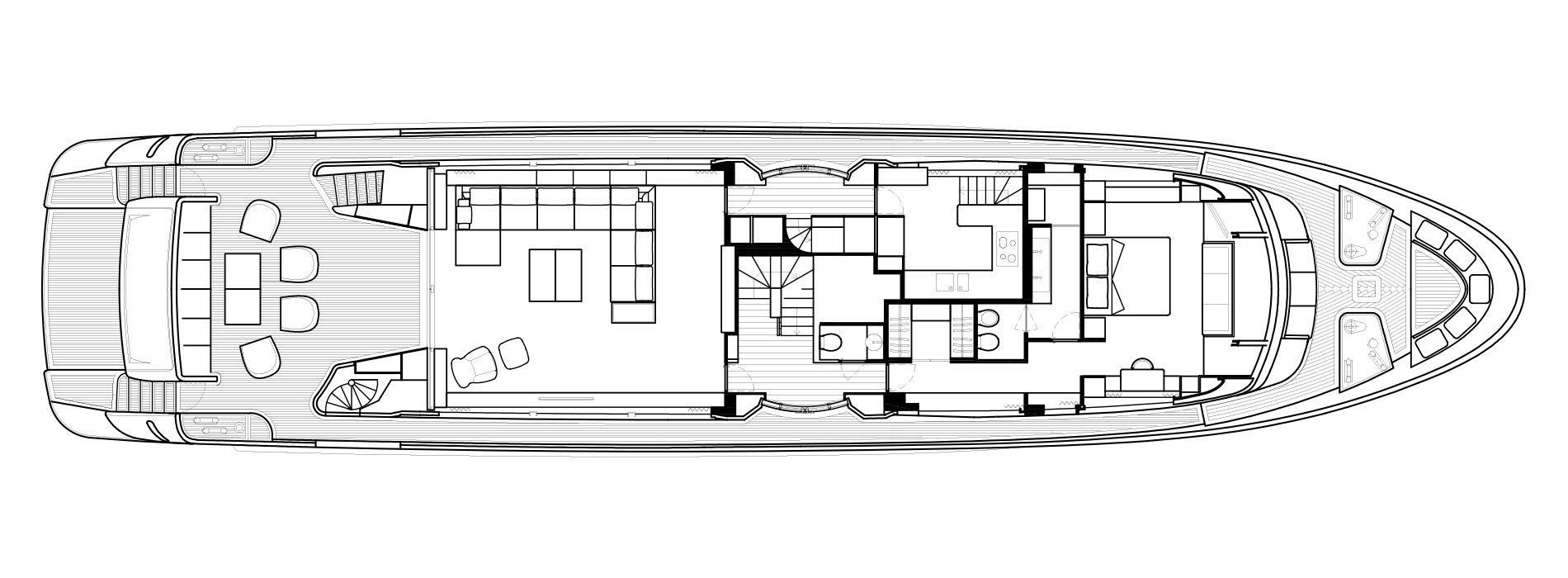 Sanlorenzo Yachts SD112 Cubierta principal Versione B
