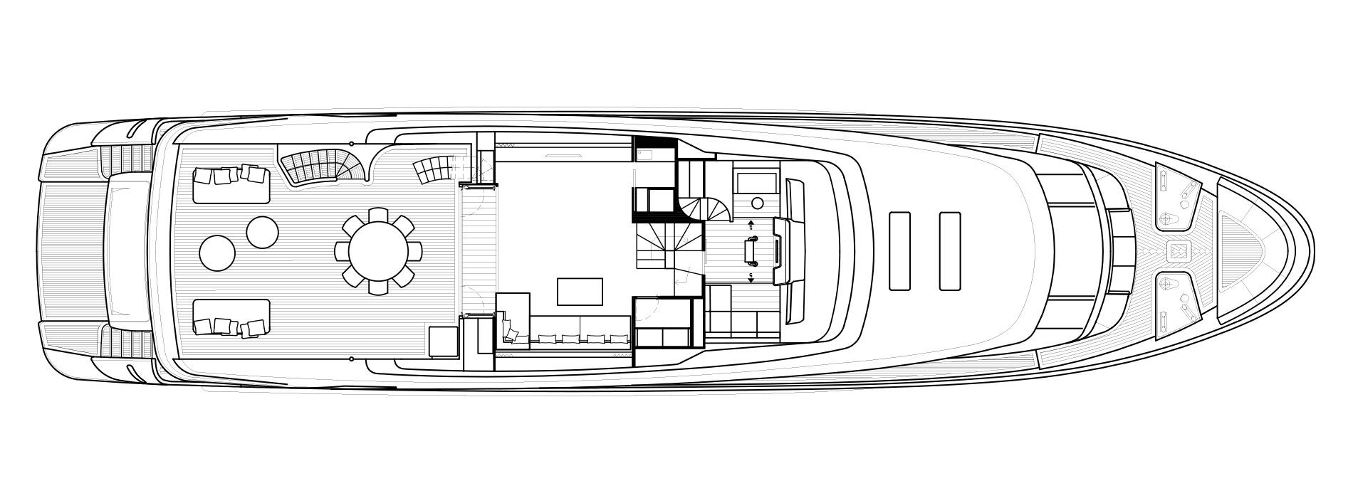 Sanlorenzo Yachts SD112 Cuberta superior Versione A