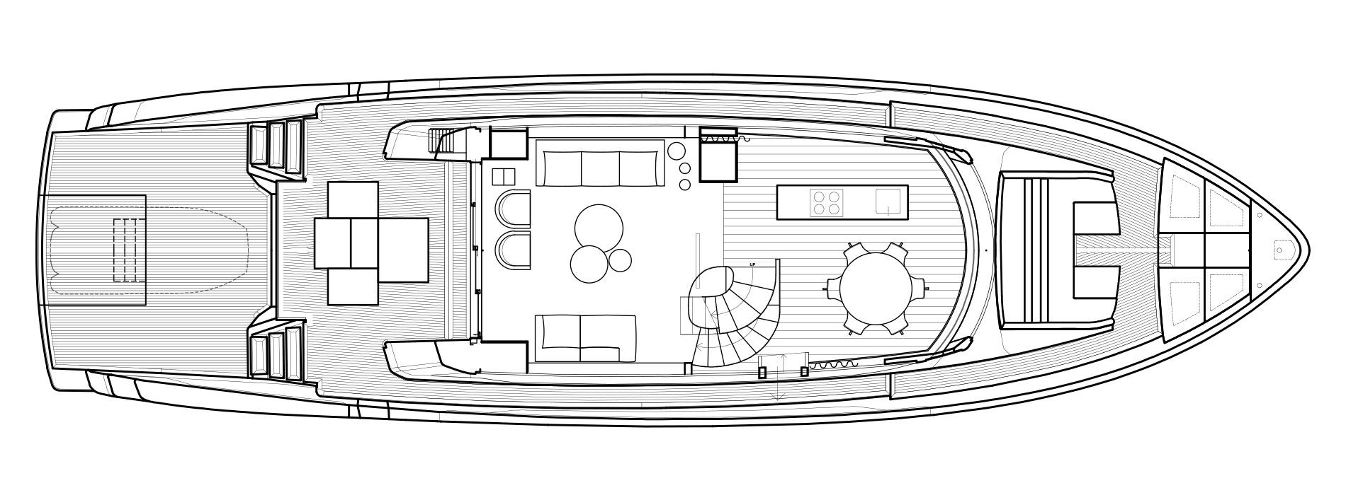 Sanlorenzo Yachts SX76 Cubierta principal Versione Lissoni