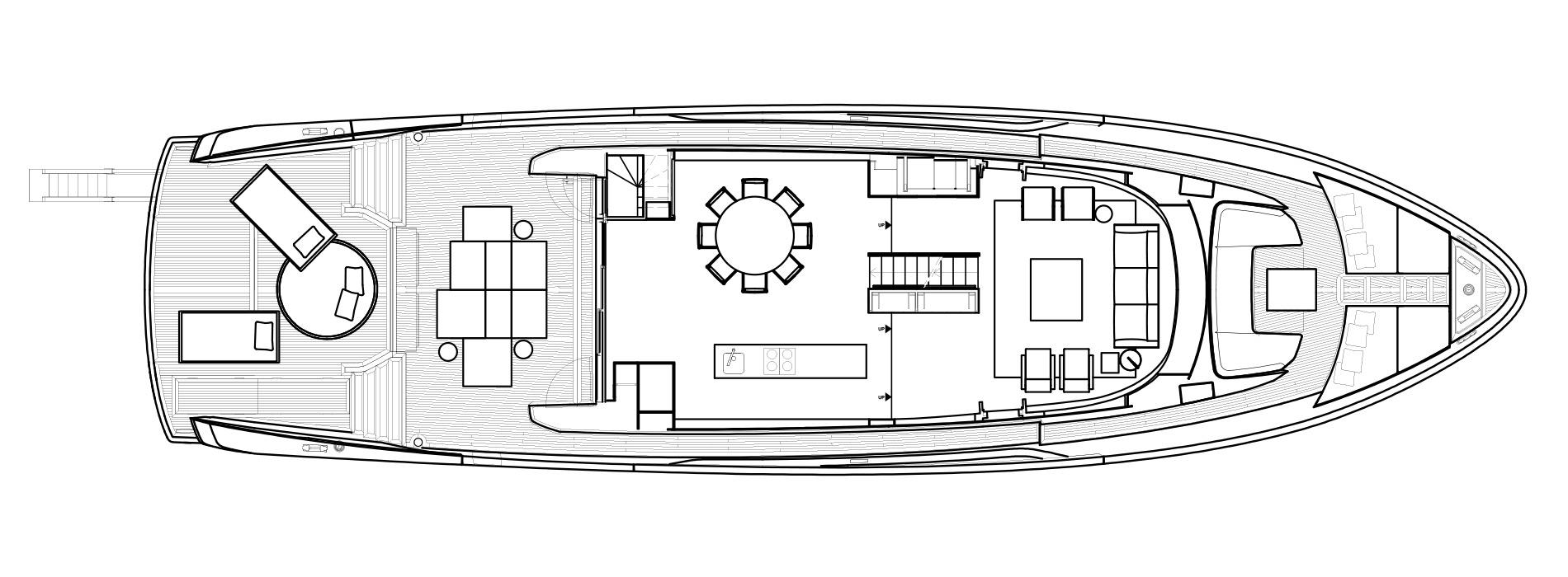 Sanlorenzo Yachts SX88 Cubierta principal Versione Lissoni
