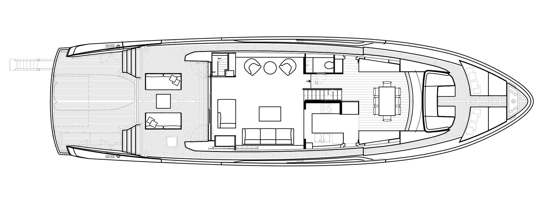 Sanlorenzo Yachts SX88 Cubierta principal Versione A Open Galley