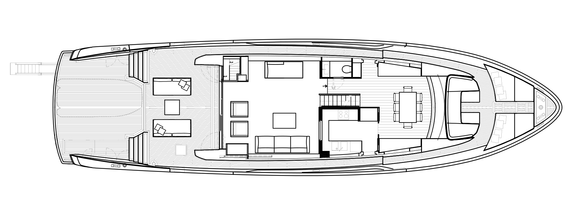 Sanlorenzo Yachts SX88 Cubierta principal Versione A Closed Galley