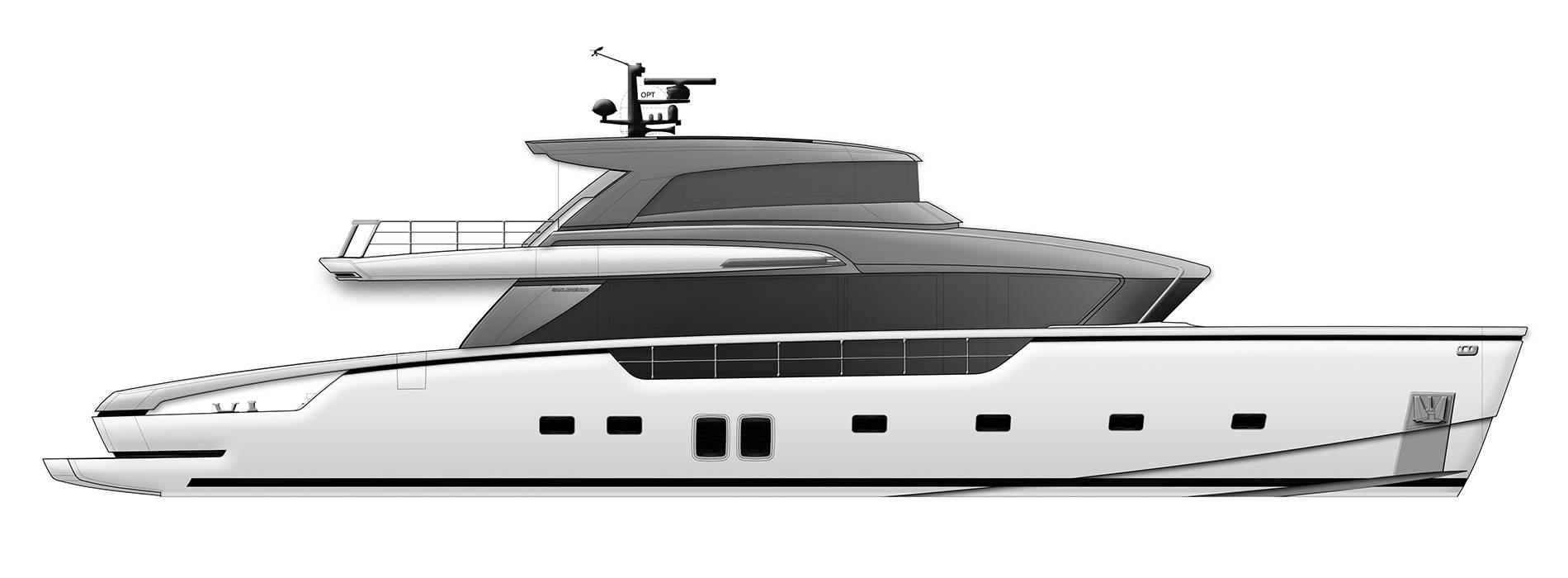 Sanlorenzo Yachts SX88 Perfil