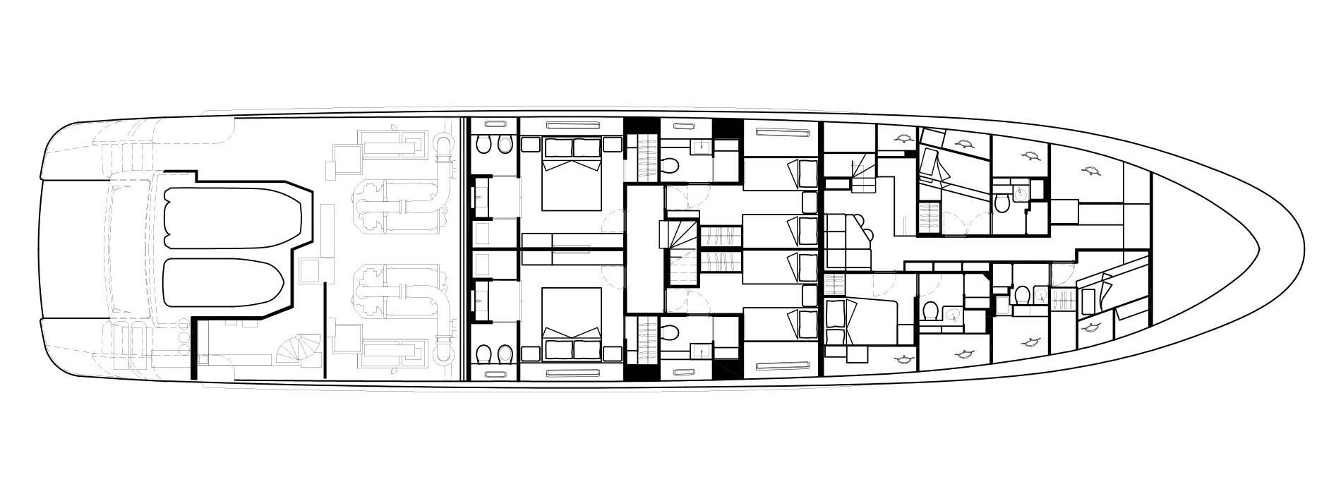 Sanlorenzo Yachts SD112 Lower Deck