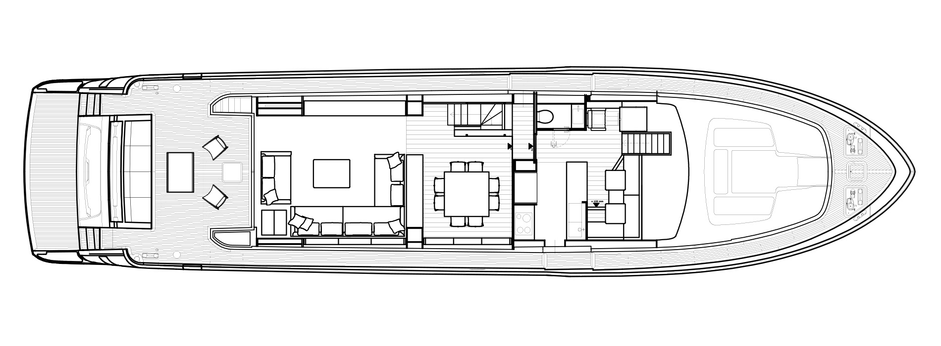 Sanlorenzo Yachts SL86 主甲板 Versione USA