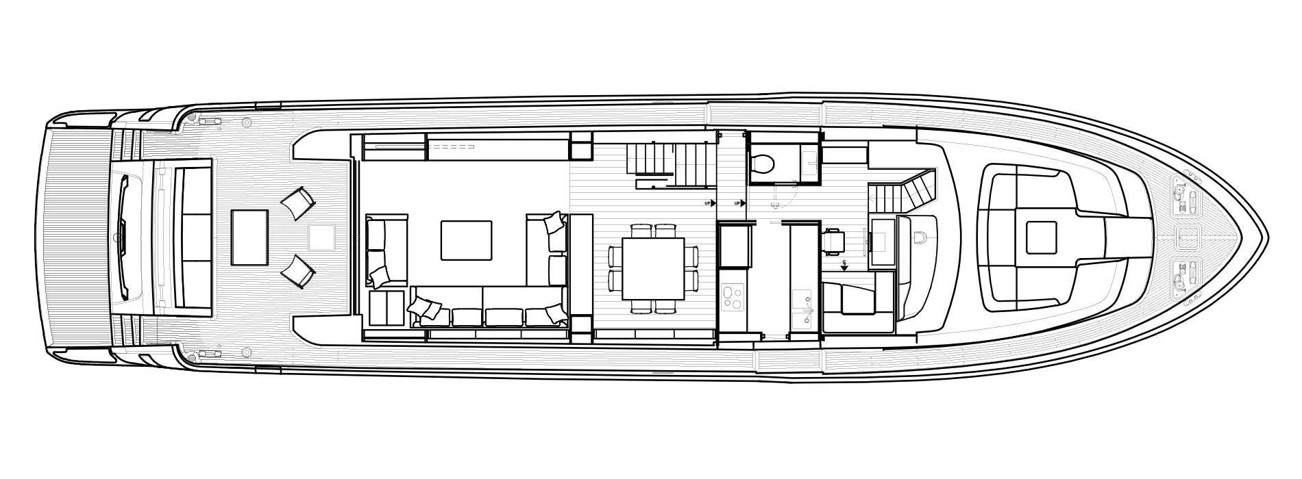 Sanlorenzo Yachts SL86 主甲板 Versione A