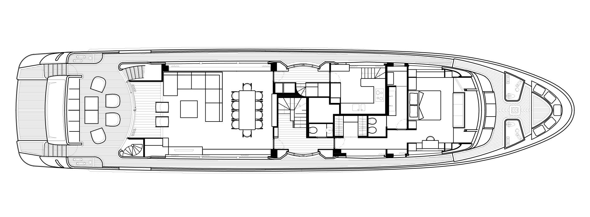 Sanlorenzo Yachts SD112 主甲板 Versione A