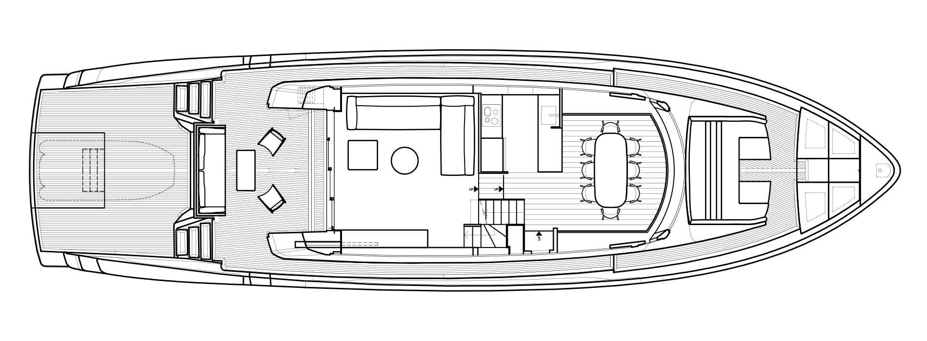 Sanlorenzo Yachts SX76 主甲板 Versione B