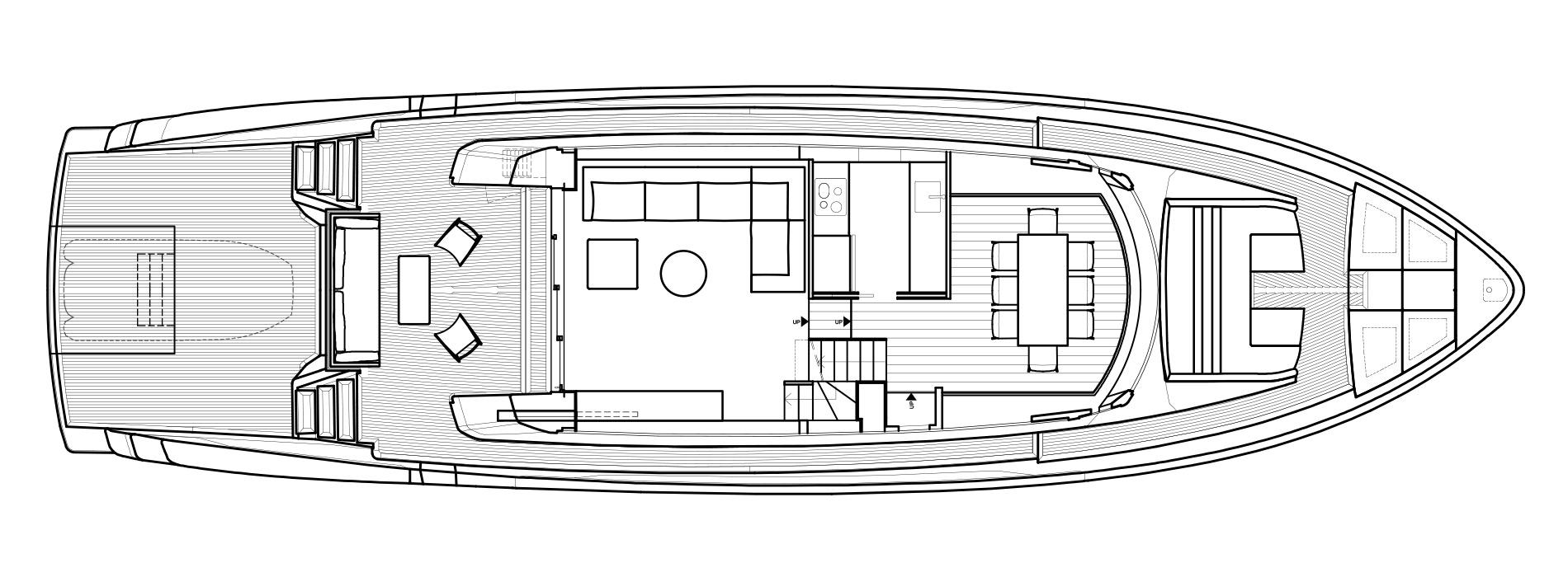 Sanlorenzo Yachts SX76 主甲板 Versione A