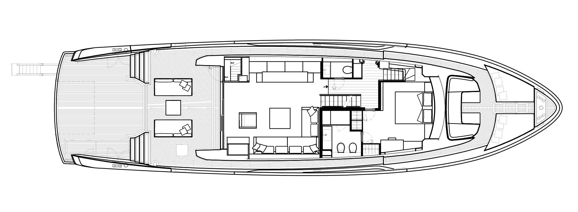 Sanlorenzo Yachts SX88 主甲板 Versione C