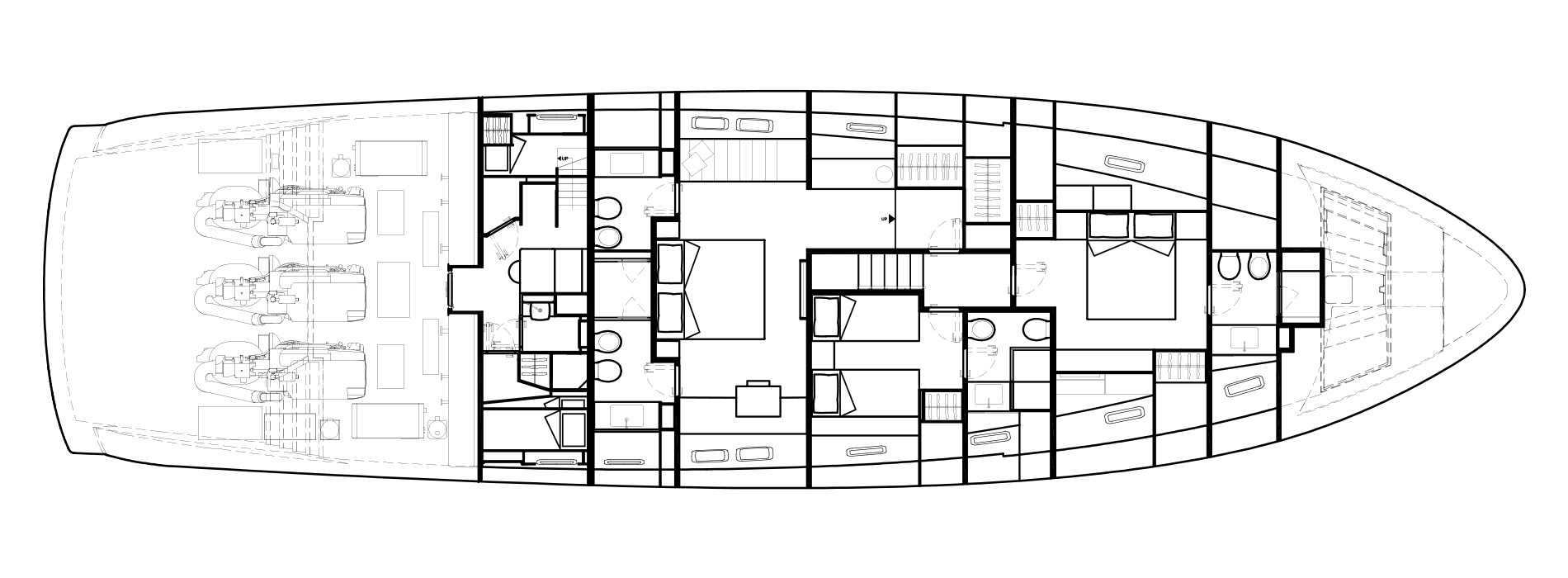 Sanlorenzo Yachts SX88 Pont inférieur Versione B
