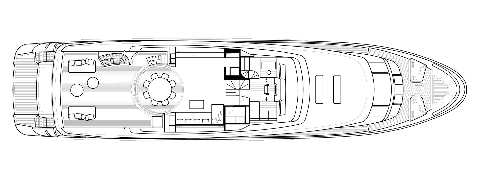 Sanlorenzo Yachts SD112 Pont supérieur Versione B