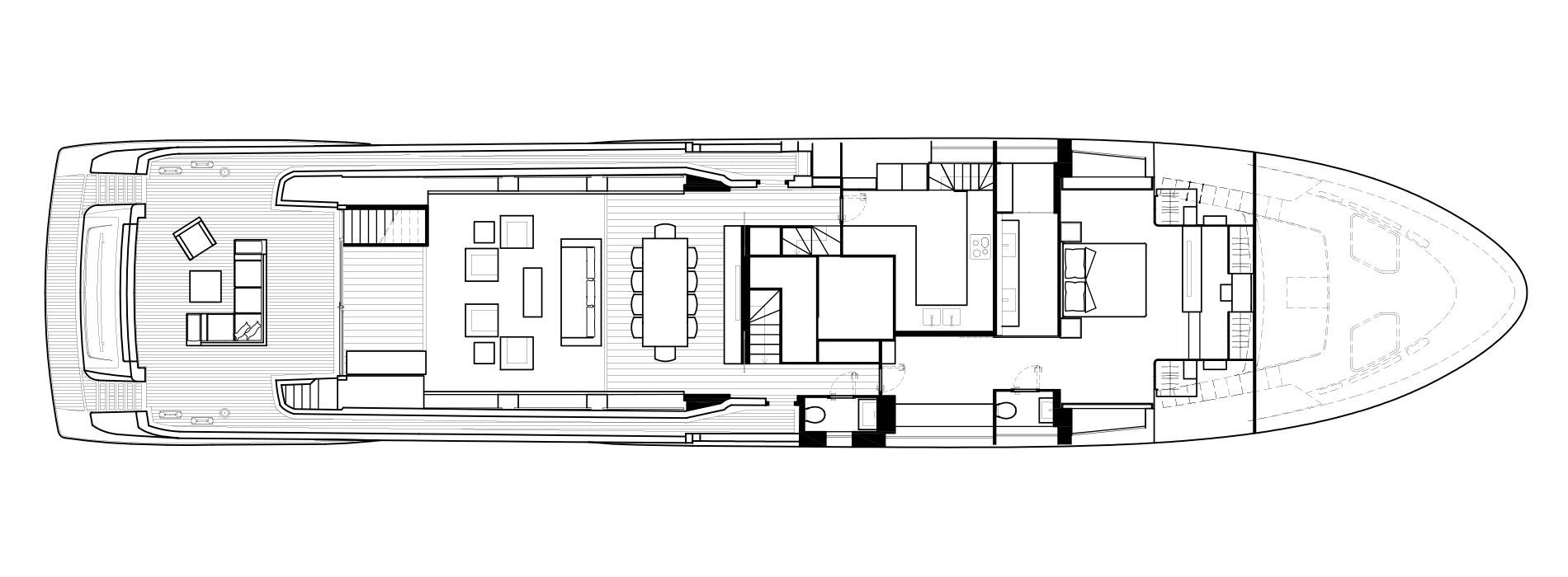 Sanlorenzo Yachts SL118 Pont principal