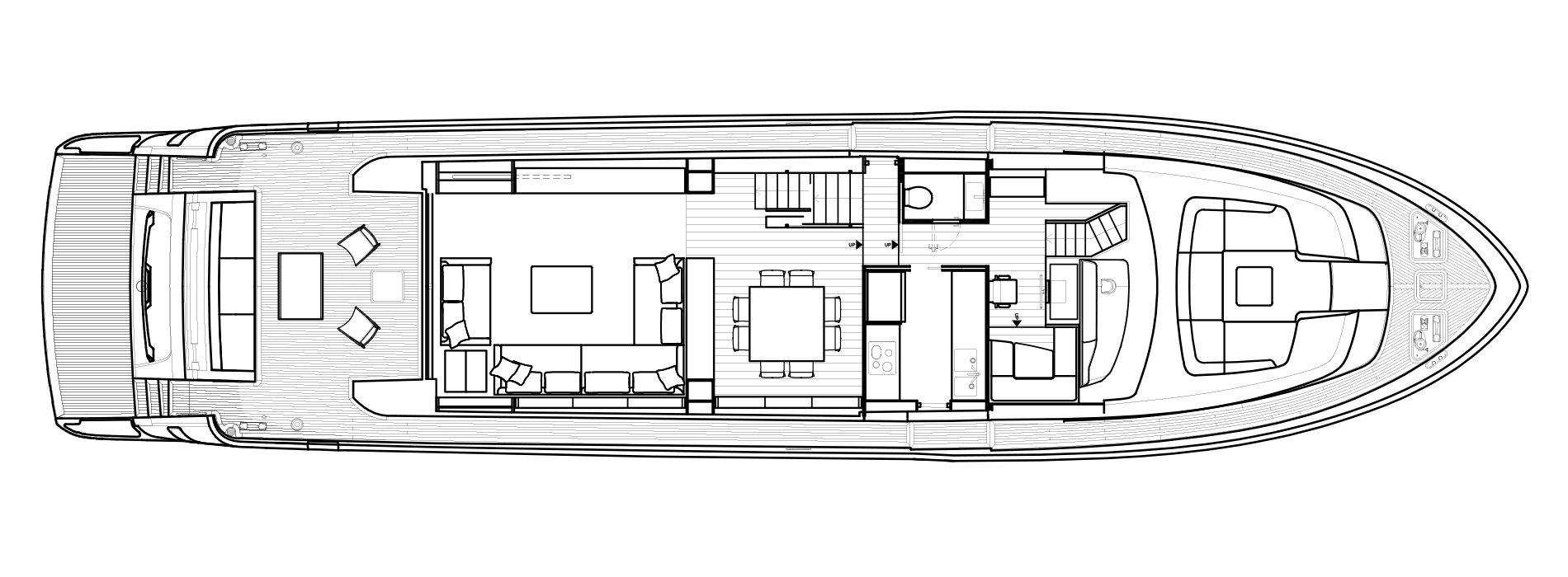 Sanlorenzo Yachts SL86 Pont principal Versione A