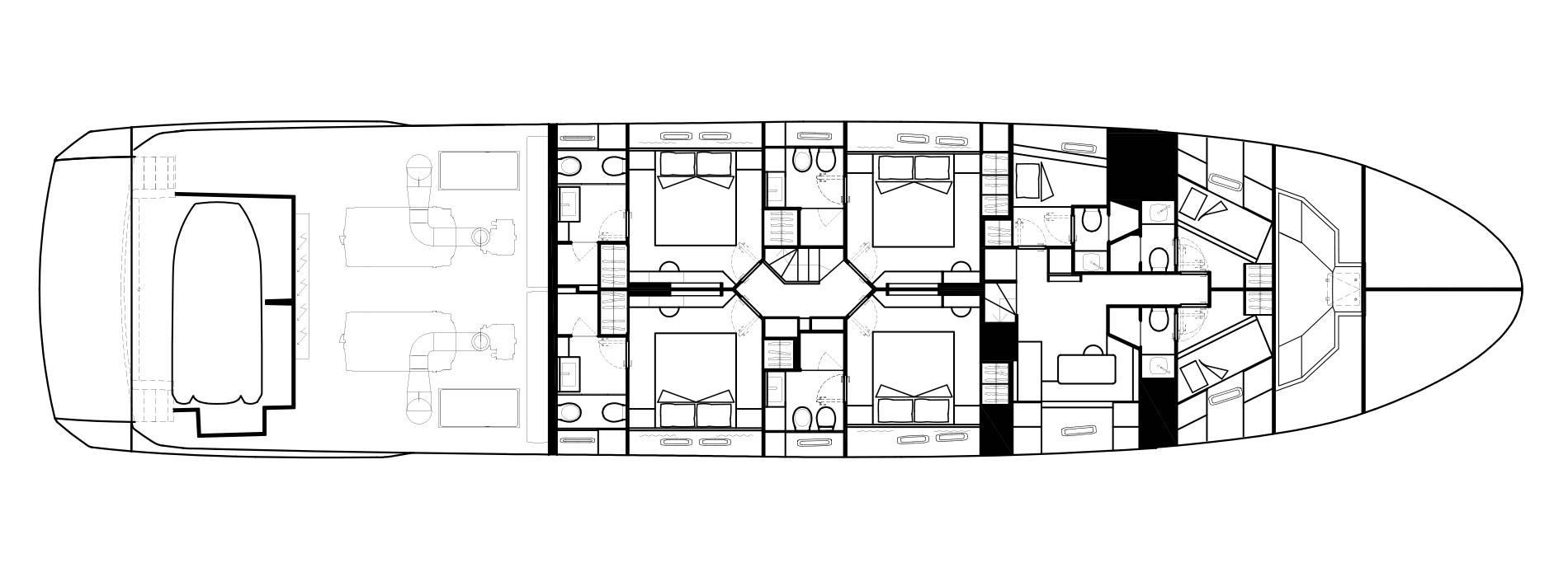 Sanlorenzo Yachts SL102 Asymmetric Lower Deck
