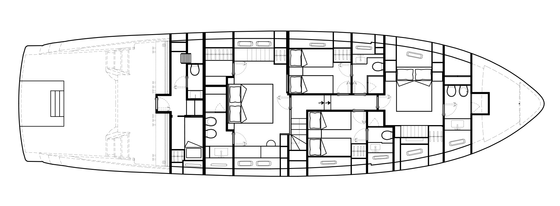Sanlorenzo Yachts SX76 Lower Deck Versione A