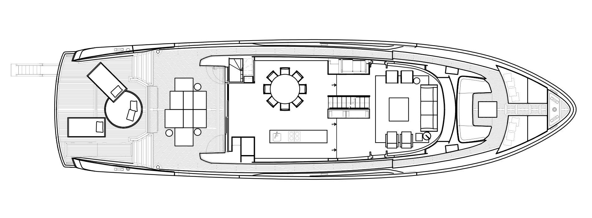Sanlorenzo Yachts SX88 Hauptdeck Versione Lissoni