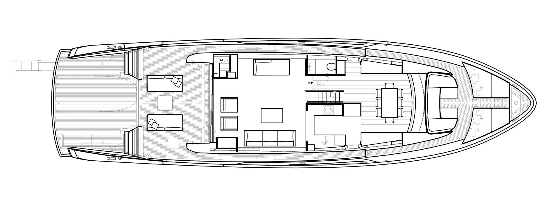 Sanlorenzo Yachts SX88 Hauptdeck Versione B open Galley