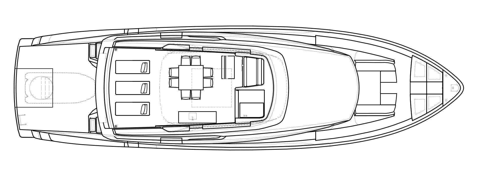 Sanlorenzo Yachts SX76 Außendeck Versione A