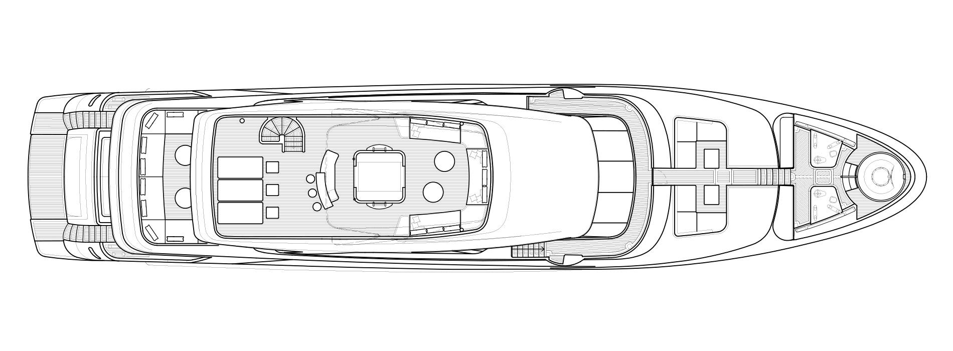 Sanlorenzo Yachts SD126 Außendeck Versione B