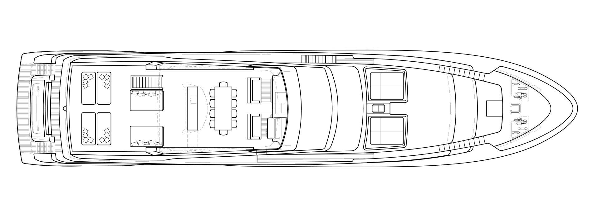 Sanlorenzo Yachts SL118 Außendeck