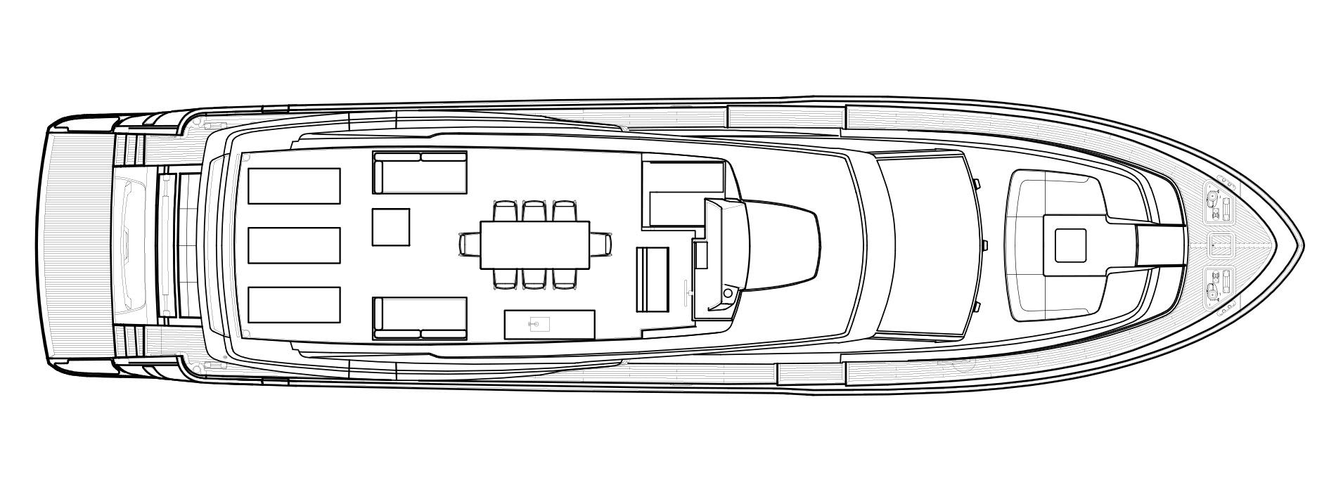 Sanlorenzo Yachts SL86 Außendeck Versione USA
