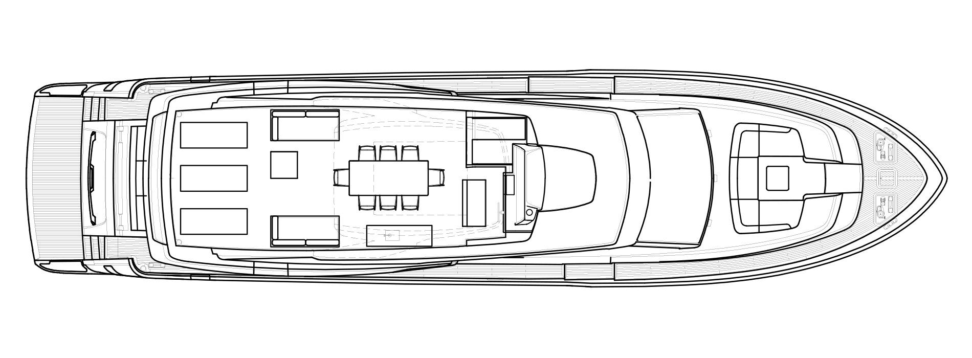 Sanlorenzo Yachts SL86 Außendeck Versione A