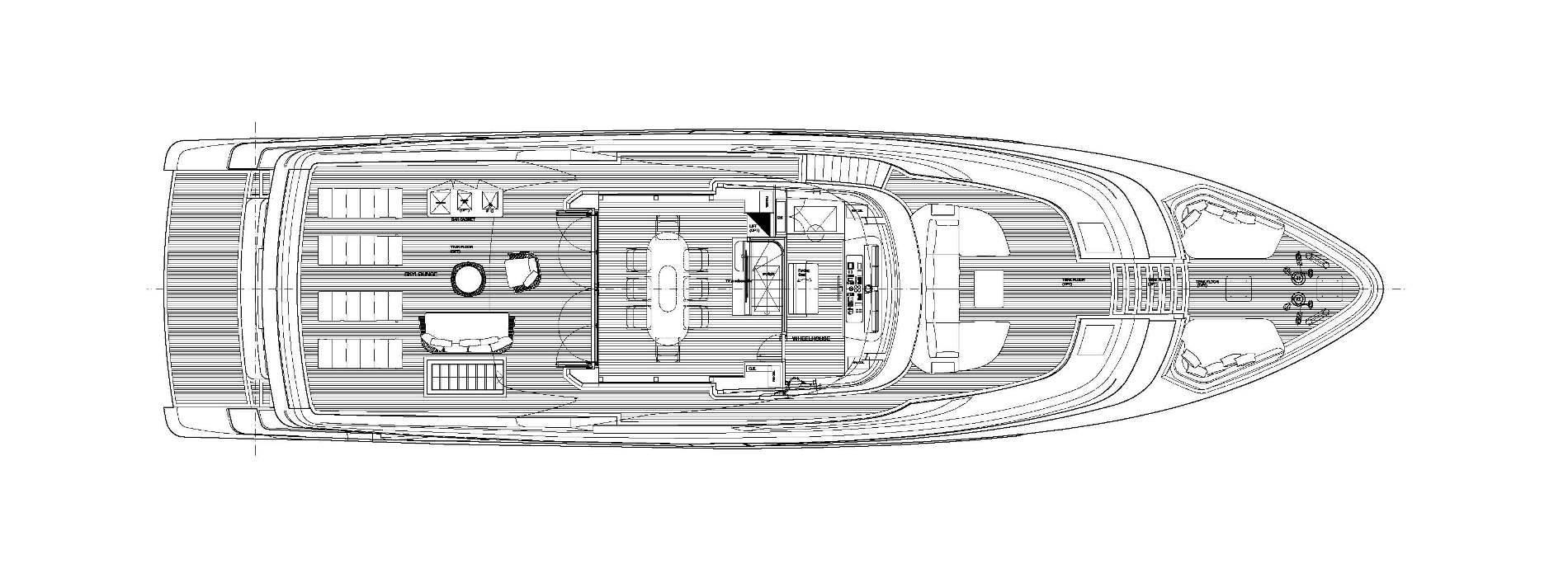 Sanlorenzo Yachts SD96 Bерхний палуба