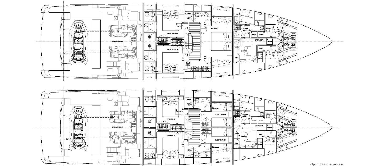 Sanlorenzo Yachts SD96 Pont inférieur