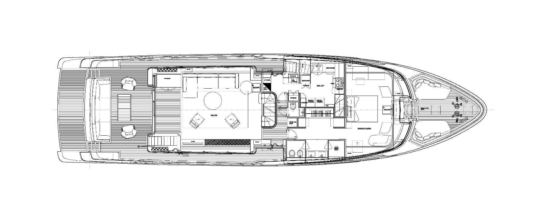 Sanlorenzo Yachts SD96 Cubierta principal