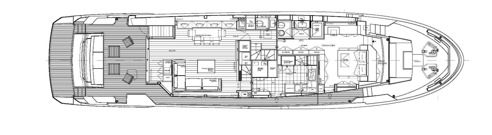 Sanlorenzo Yachts SL96 Asymmetric Cubierta principal